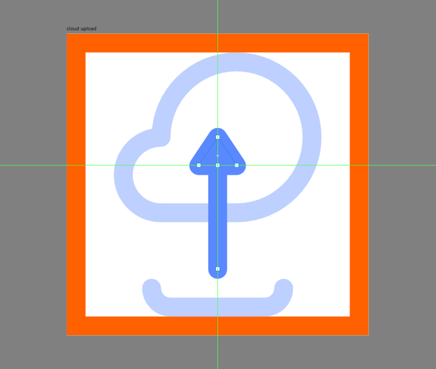 adding the head to the upload arrow