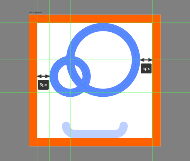 creating and positioning the main shapes for the cloud