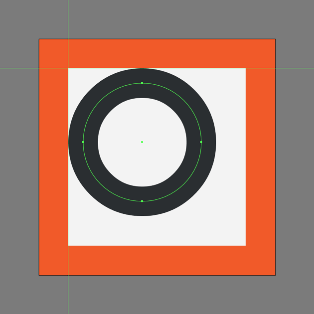 creating the circle for the shapes icon