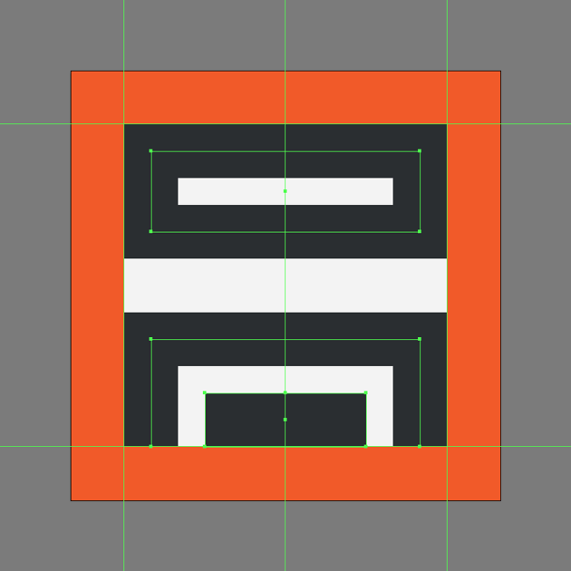 creating the main shapes for the insert footer icon