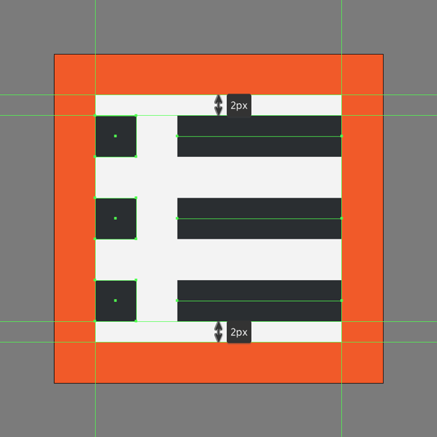 creating the main shapes for the sublist icon