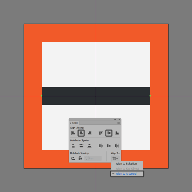 creating the center line for the insert page break icon