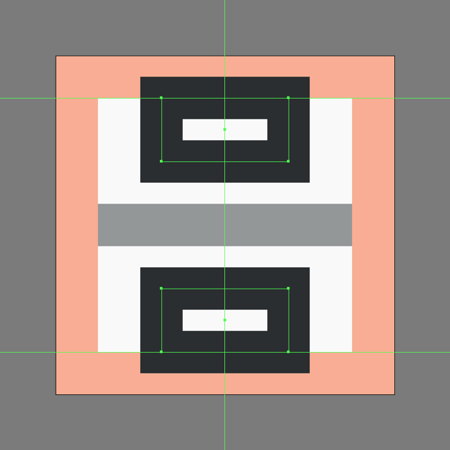 adding the main rectangles for the insert page break icon