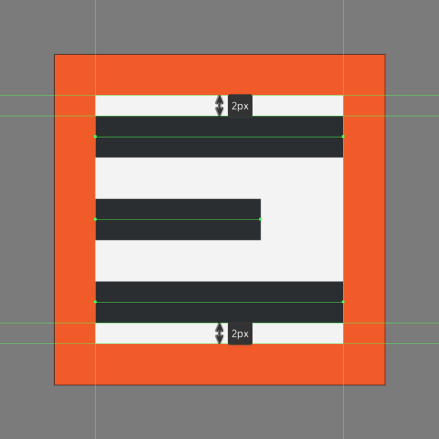 creating the main shapes for the right align icon
