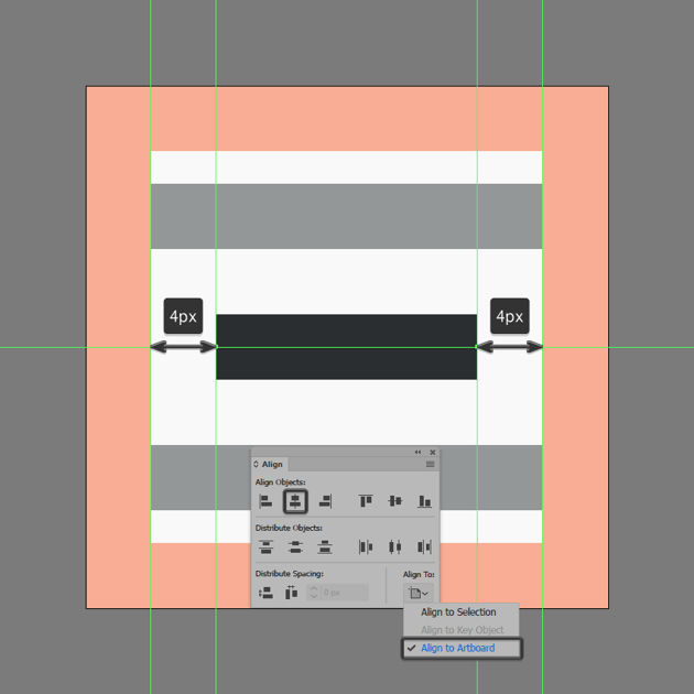 finishing off the center align icon