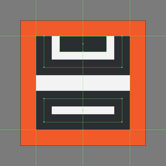finishing off the insert footer icon