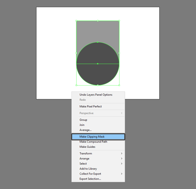 example of creating a clipping mask in illustrator