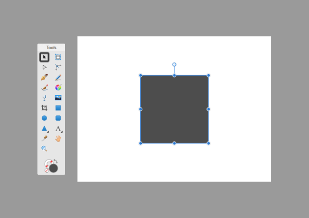 example of shape selection using the move tool in affinity designer