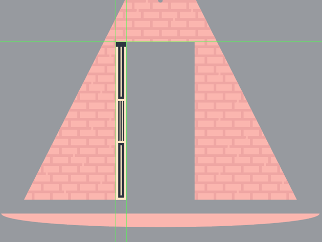 adding the hard shadow to the right section of the door frame