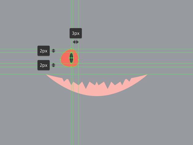 adding the iris to the right eye