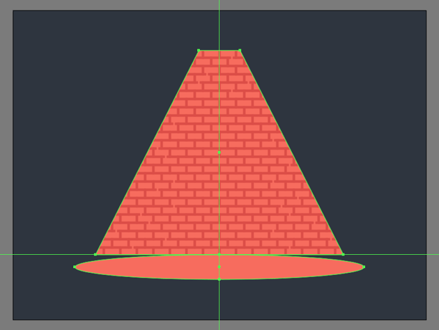 creating the main shape for the projected light
