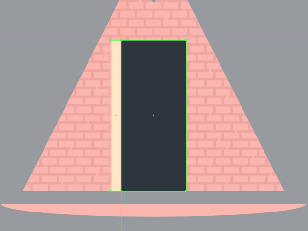 creating the main shape for the left section of the door frame