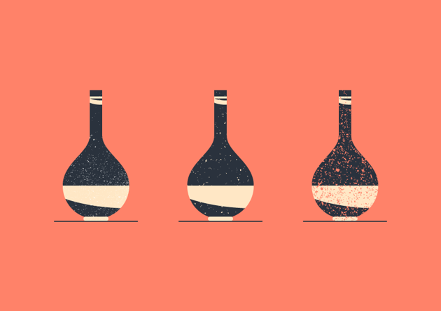 vintage grit textures vase example