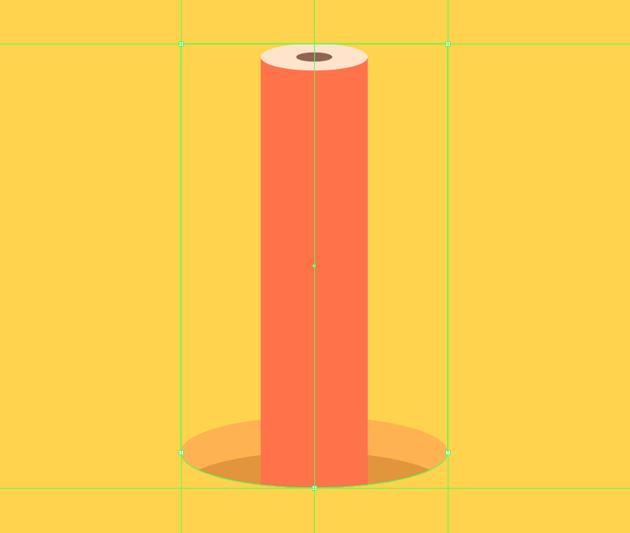 masking the down-facing pencil