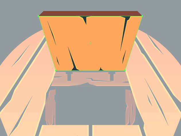 adding details to the lower section of the trap door