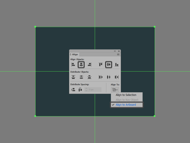 creating and positioning the main background shape