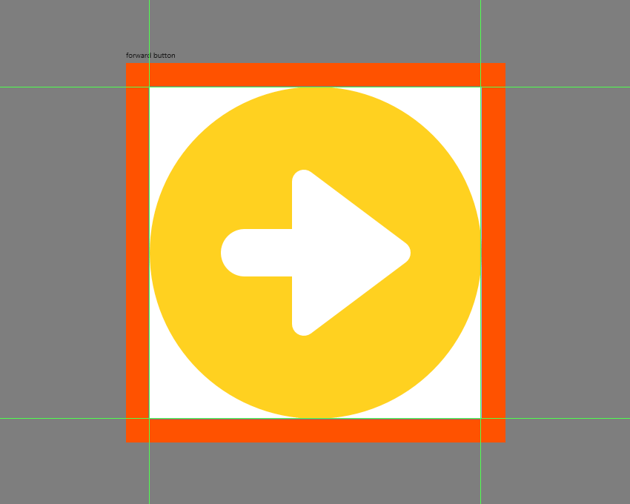 finishing off the front button icon