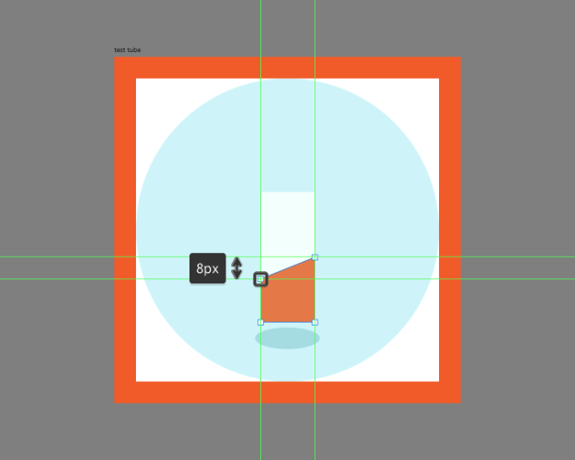 adjusting the darker liquid section for the test tube icon