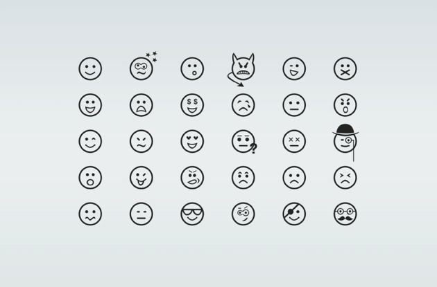 example of smiley icons