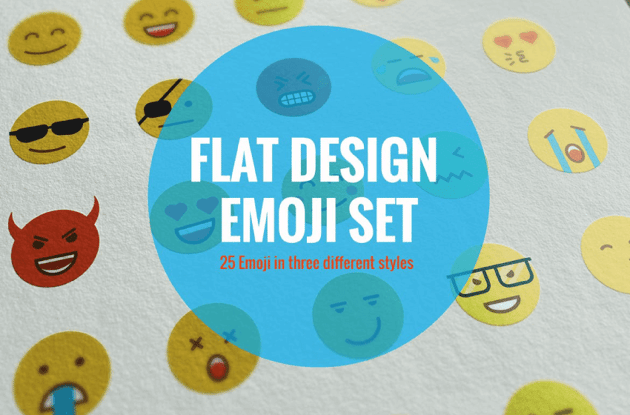 flat design emoji set