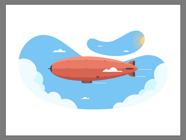 adding the larger floating clouds