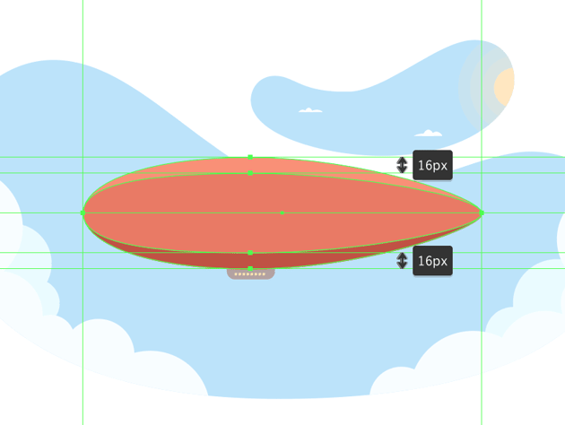adding the lighter inner segment to the balloon section