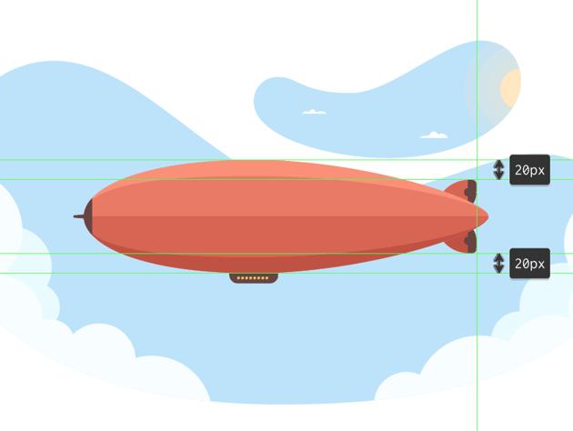 adding the bottom rudder