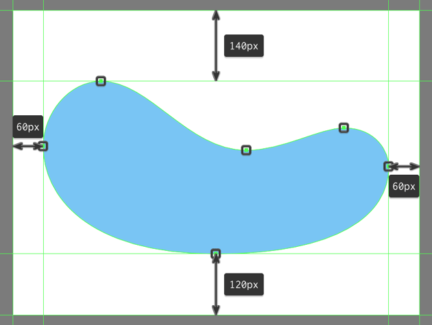 creating the main shape for the lower background cutout