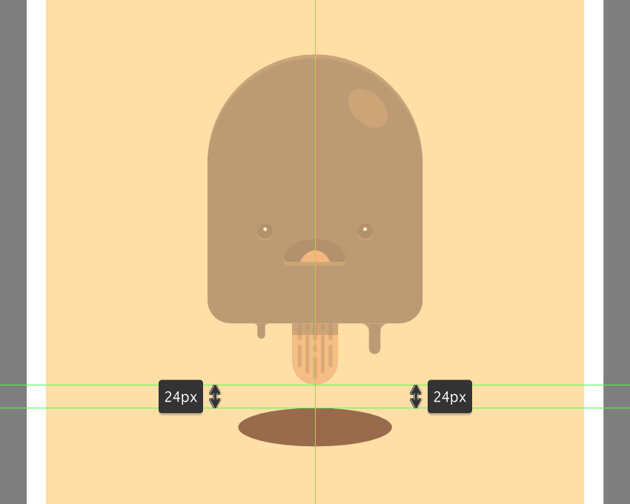 creating the main shape for the chocolate puddle