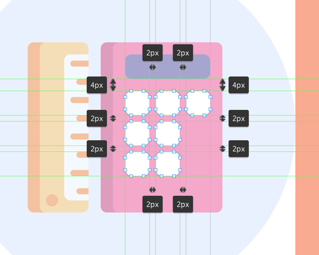 creating the smaller calculator buttons