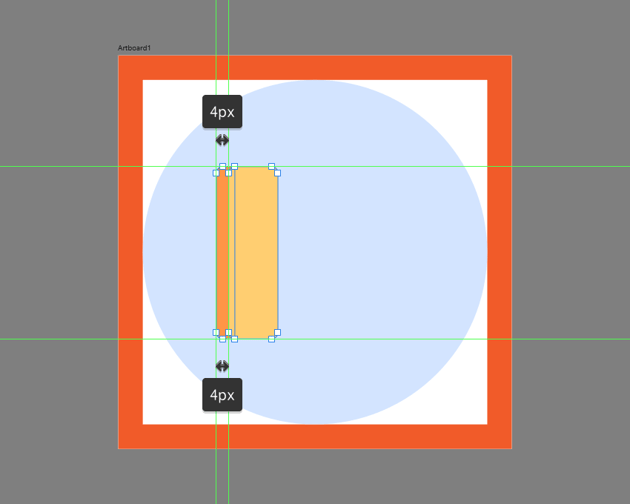 adding the front section of the ruler