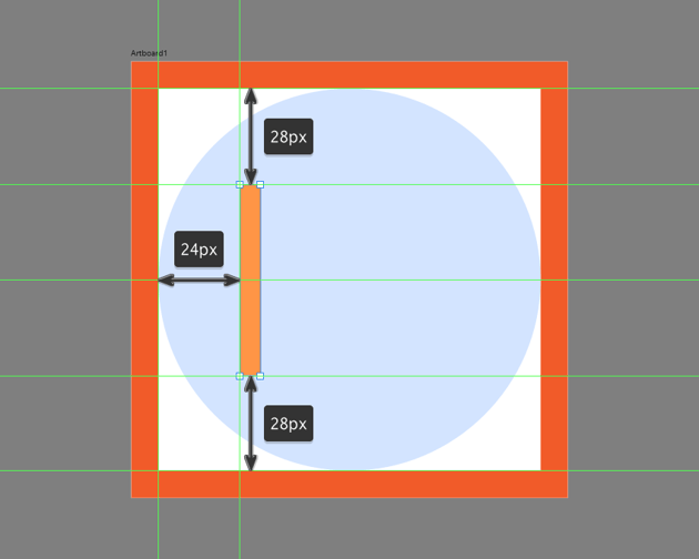 creating the side section for the ruler