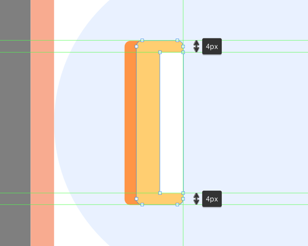 creating the indicator section for the ruler