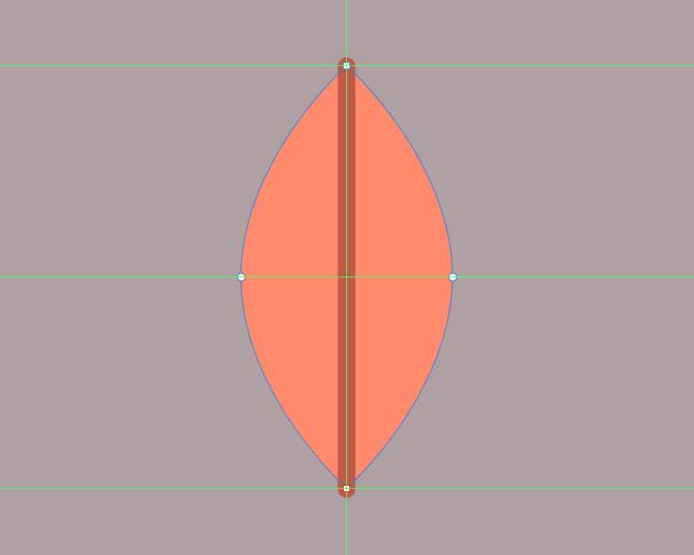 adding the midrib to the center leaf