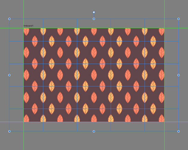 center aligning the larger pattern