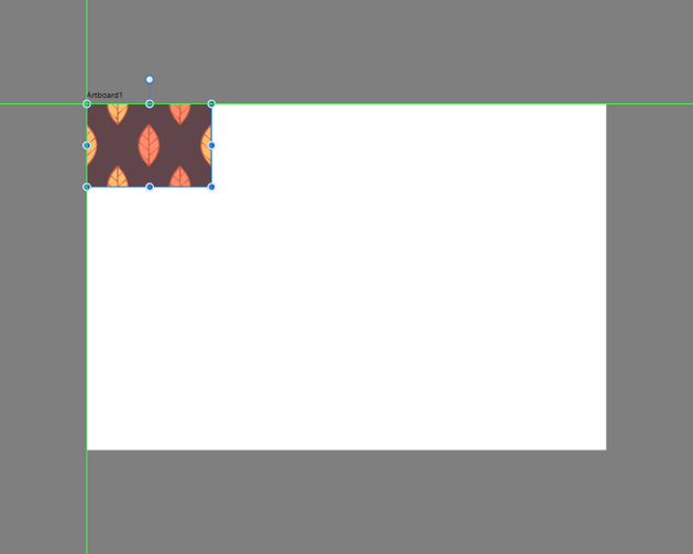 pasting a copy of the pattern segment onto the empty artboard