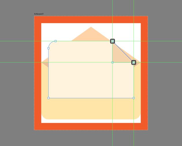 adjusting the shape of the folded corner