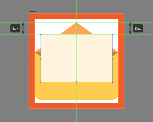 creating the main shape for the letter