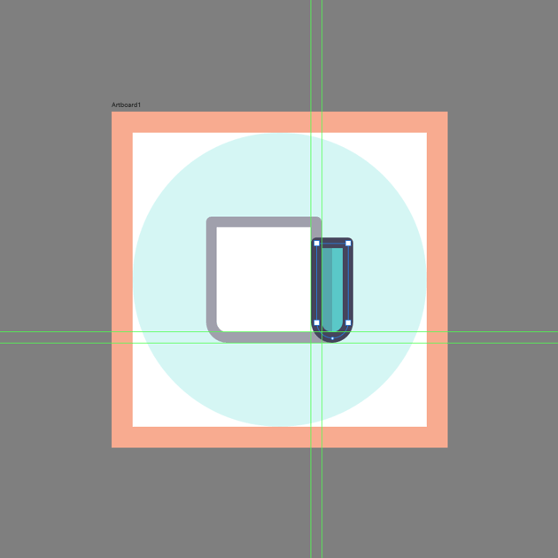 adding the outline to the side section in ad