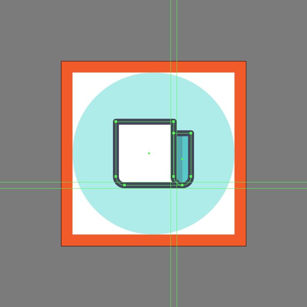 adding the outline to the side section in ai