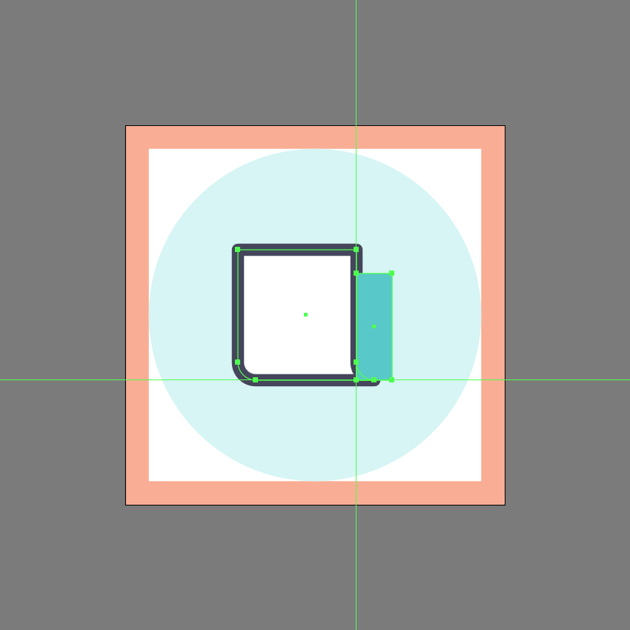 creating the main shape for the side section in ai