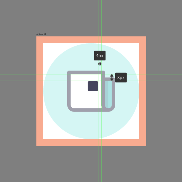 positioning the main shape for the photo in ad