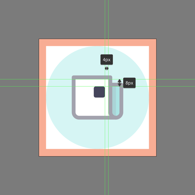 positioning the main shape for the photo in ai