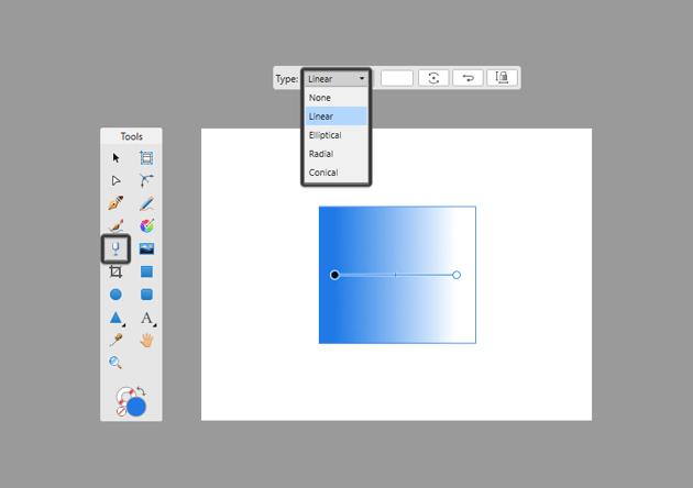 example of transparent gradient types