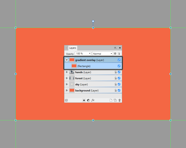 creating the main shape for the background overlay