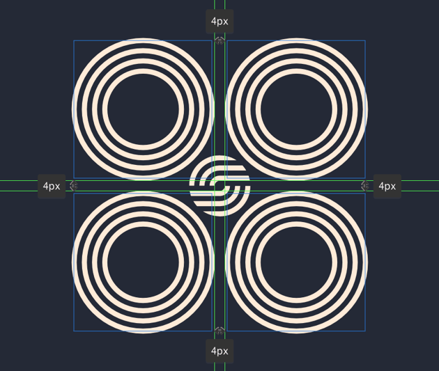 adding the circle groups to the smaller inner section