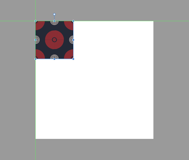 pasting the pattern segment onto the larger document