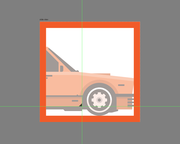 adding the detail to the side skirt