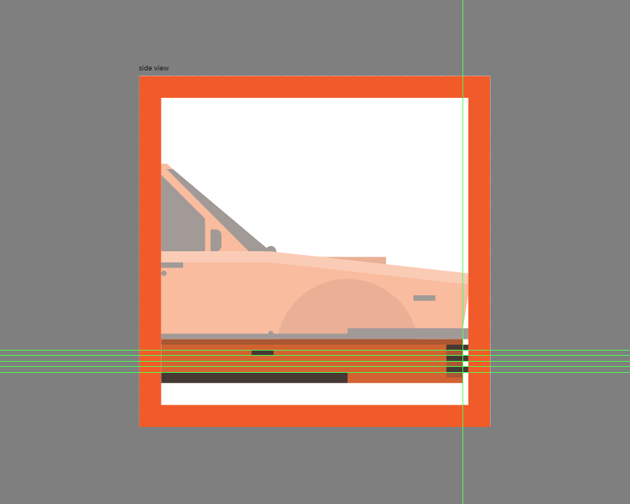 adding the subtle shadows to the bumper lines