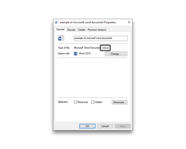 example of word document file format
